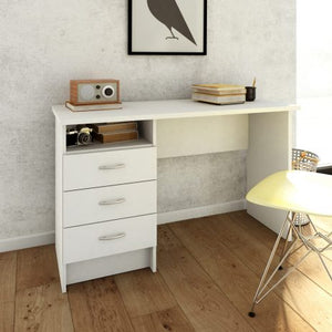 Function Plus Desk 3 Drawers in White-Better Bed Company