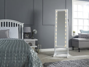 GFW Amore Jewellery Amoire With LED-Mirrors-GFW-Grey-Better Bed Company