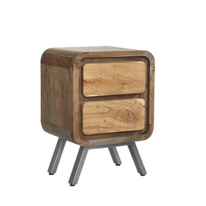 Indian Hub Aspen 2 Drawer Lamp Table-Indian Hub-Better Bed Company