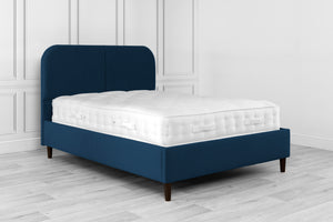 Swanglen Abbey Blue Bed Frame-Fabric Beds-Swanglen-Small Single-Light-Better Bed Company