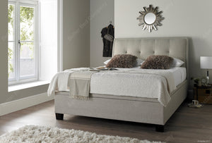 Kaydian Accent Pendle Oatmeal Ottoman Bed Frame-Ottoman Beds-Kaydian-4ft 6 Double-Better Bed Company