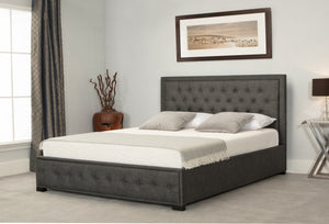 Emporia Beds Albany Fabric Ottoman Bed-Emporia Beds-King Size 5ft-Grey-Better Bed Company