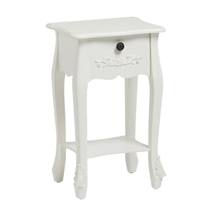 LPD Furniture Antoinette 1 Drawer White Nighstand-Nighstands-Better Bed Company