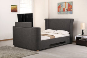 Artisan Bed Company Audio Grey Fabric Bed-Better Bed Company