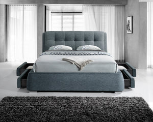 Artisan Bed Company Grey Fabric Draw Bed Frame-Fabric Beds-Artisan Bed Company-4ft6 Double-Better Bed Company