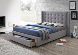 Artisan Bed Company Grey fabric front draw Bed Frame-Fabric Beds-Artisan Bed Company-4ft6 Double-Better Bed Company