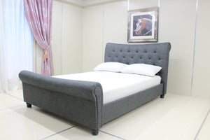 Artisan Bed Company Grey Standard Fabric Bed-Fabric Beds-Artisan Bed Company-Double-Better Bed Company