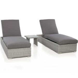 Maze Rattan Ascot Sun Lounger Set-Better Bed Company