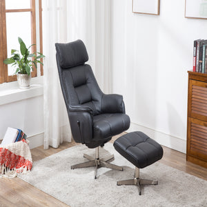 GFA Auckland Recliner And Foot Stool-Recliners-GFA-Black-Better Bed Company