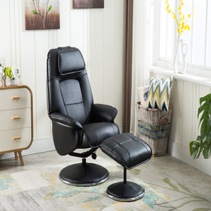 GFA Avant Garde Recliner And Foot Stool-Recliners-GFA-Black-Better Bed Company