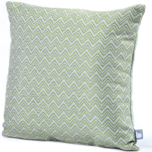 Maze Rattan Fabric Scatter Cushions Polines Green Close up-Better Bed Company