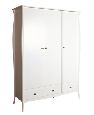 Steens Baroque White 3 Door Wardrobe-Better Bed Company