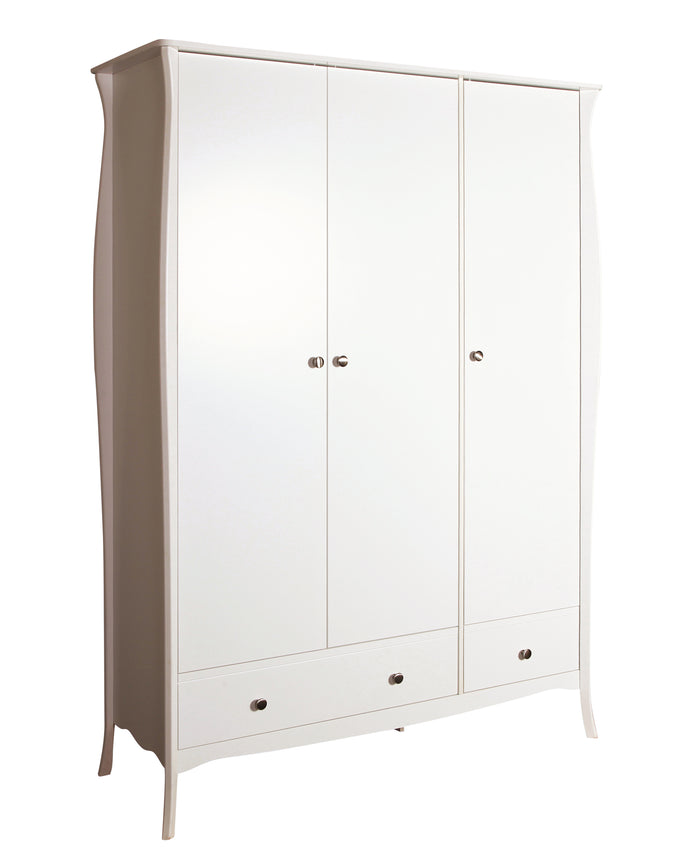 Steens Baroque White 3 Door Wardrobe