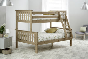 Bedmaster Carra Triple Sleeper Pine-Better Bed Company