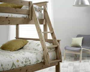 Bedmaster Carra Triple Sleeper Pine Ladder Close Up-Better Bed Company