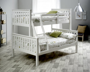 Bedmaster Carra Triple Sleeper White-Better Bed Company
