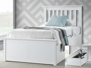 Bedmaster Francis Ottoman Bed-Ottoman Beds-Bedmaster-Single-white-Better Bed Company