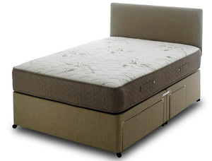 Bedmaster Memory Stress Free 1000 Pocket Divan Bed-Divan Beds-Bedmaster-Small Single-Linen Beige-Non Storage-Better Bed Company