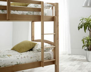 Bedmaster Mya Bunk Bed Pine Ladder Close Up-Better Bed Company