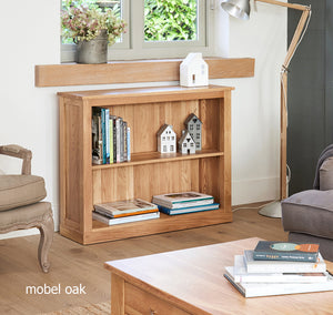 Baumhaus Mobel Oak Low Bookcase-Better Bed Company