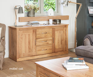 Baumhaus Mobel Oak Large Sideboard-Better Bed Company