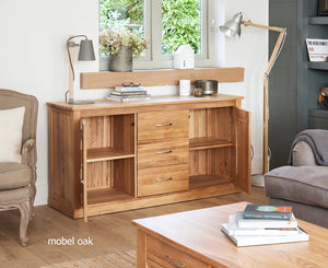Baumhaus Mobel Oak Large Sideboard-Baumhaus-Better Bed Company
