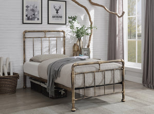 Flintshire Furniture Cilcain Bed Frame In Bronze Single 3ft-Better Bed Company