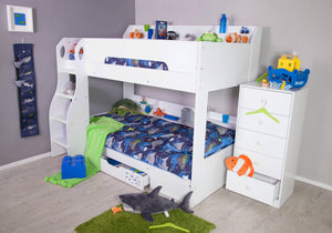 Febbie White Bunk Bed-Better Bed Company