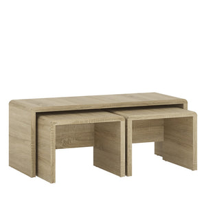 Furniture To Go 4 You Wide Nest of Tables 1+2 Sonoma Oak-Better Bed Company