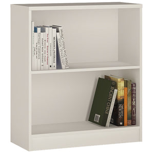 Furniture To Go 4 You Low wide Bookcase in Pearl White-Better Bed Company