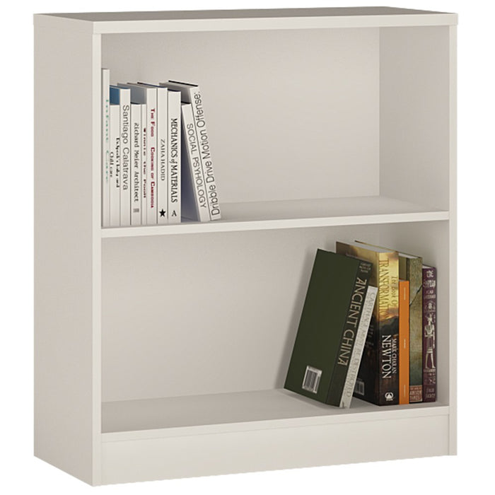 Furniture To Go 4 You Low wide Bookcase in Pearl White