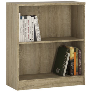 Furniture To Go 4 You Low wide Bookcase in Sonoma Oak-Better Bed Company