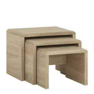 Furniture To Go 4 You Small Nest of Tables 1+1+1 Sonoma Oak-Furniture To Go-Better Bed Company