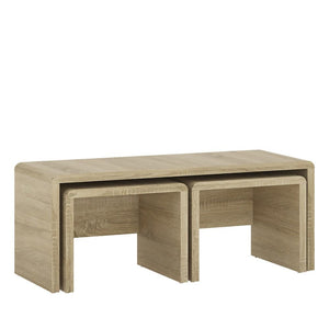 Furniture To Go 4 You Wide Nest of Tables 1+2 Sonoma Oak-Furniture To Go-Better Bed Company