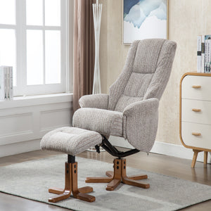 GFA Florida Recliner And Foot Stool In Wheat-Better Bed Company
