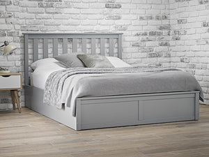 LPD Furniture Oxford Grey Ottoman Bed-LPD Furniture-4ft 6 Double-Better Bed Company