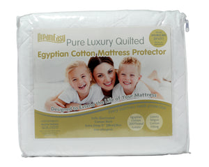 Dream Easy Egyptian Cotton Mattress Protector-Harwood Textiles-3ft Single-Better Bed Company