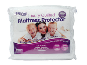 Dream Easy Quilted Polycotton Mattress Protector-Harwood Textiles-2ft6 Small Single-Better Bed Company