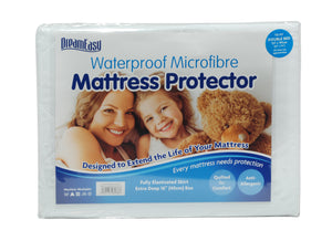Dream Easy Waterproof Micro fibre Mattress Protector-Harwood Textiles-2ft6 Small Single-Better Bed Company