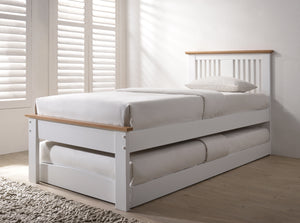 Flintshire Furniture Halkyn Guest Bed In Two Tone White And Oak-Better Bed Company