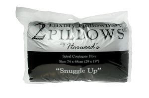 Harwood Hollowfibre Pillow Pair-Pillows-Harwood Textiles-Better Bed Company