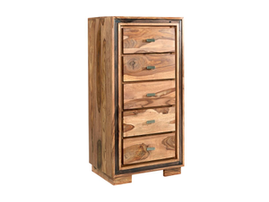 Indian Hub Jodhpur Sheesham Tall Chest of Drawers-Better Bed Company