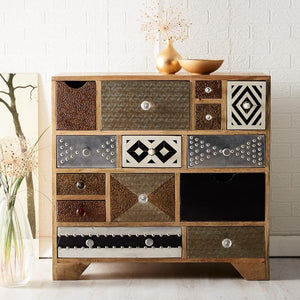 Indian Hub Sorio 14 Drawer Chest-Better Bed Company