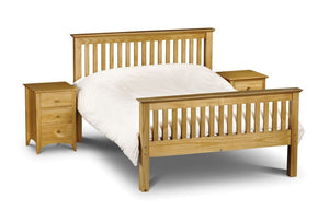 Julian Bowen Barcelona Pine High Foot End Bed Frame-Better Bed Company