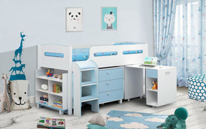 JULIAN BOWEN KIMBO CABIN BED-Cabin Beds-Julian Bowen-Cabin Bed-White and Blue-Better Bed Company