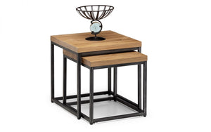 Julian Bowen Brooklyn Oak Nesting Lamp Tables-Better Bed Company