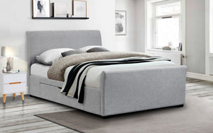 Julian Bowen Capri Grey Fabric Bed Frame-Better Bed Company