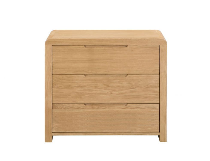 Julian Bowen Curve 3 Draw Chest Of Draws