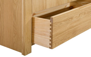 Julian Bowen Curve 3 Draw Chest Of Draws-Bed Side Tables-Julian Bowen-Better Bed Company