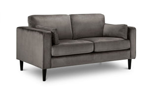 Julian Bowen Hayward Velvet 2 Seater Sofa-Sofas-Better Bed Company